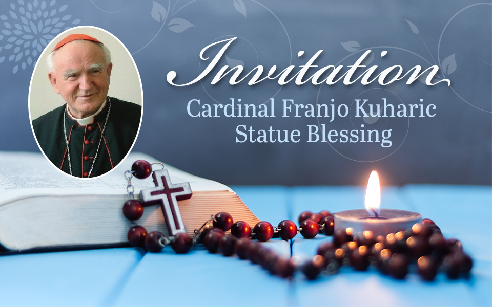 Invitation to Blessing of the Cardinal Franfo Kuharic Statue